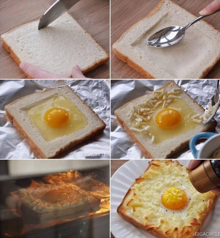 Jaje na oko u kriski kruha